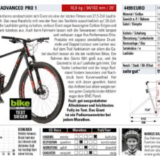 Giant Anthem Advanced Pro1 29″ – BIKE Magazin -Test 02/2018